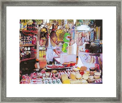 Deli On The Via Condotti Framed Print by Constance Drescher