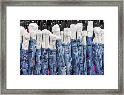 Denim Framed Print by Tom Gowanlock
