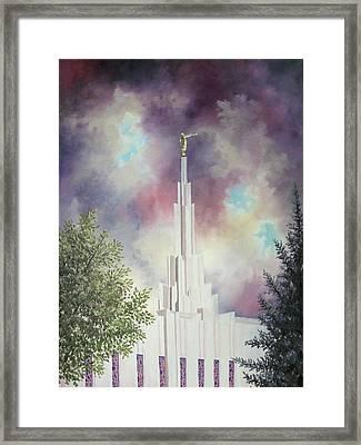 Denver Temple Framed Print by Amber Whiting Bradley