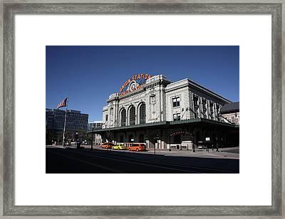 Denver - Union Station Framed Print by Frank Romeo