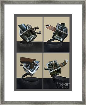 Derailed Boxcar Framed Print by Peter Piatt