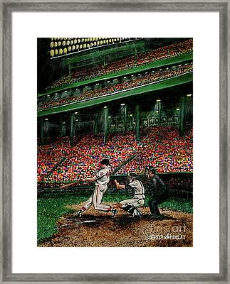 Derrek's Homerun Framed Print by Linda Simon