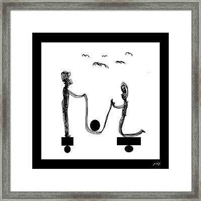 Desequilibre Framed Print by Sir Josef - Social Critic -  Maha Art