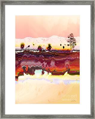 Desert Impression Framed Print