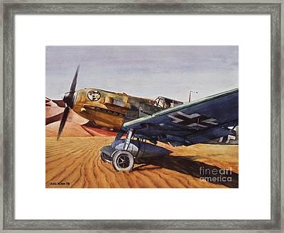 Desert Storm Framed Print