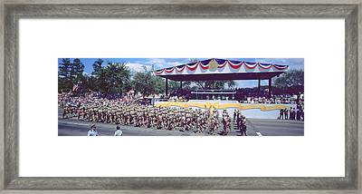 Desert Storm Victory Military Parade Framed Print by Panoramic Images
