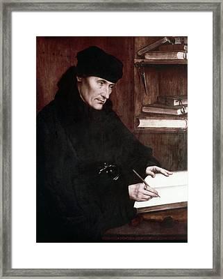Desiderius Erasmus (1466?-1536) Framed Print