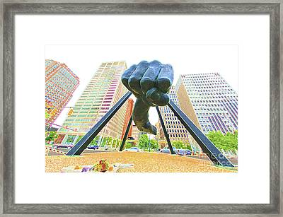 Detroit Fist Framed Print