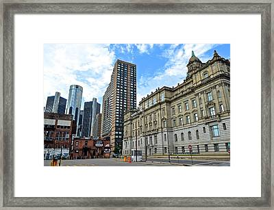 Detroit From Below Framed Print
