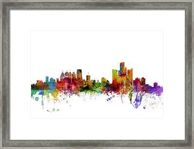 Detroit Michigan Skyline Framed Print