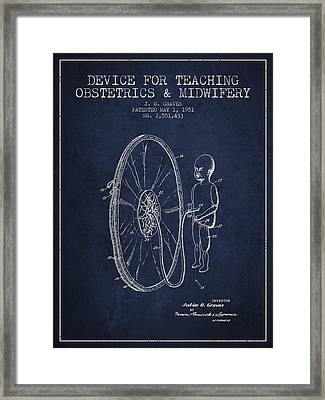 Device For Teaching Obstetrics And Midwifery Patent From 1951 -  Framed Print