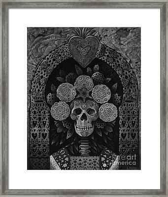 Dia De Muertos Madonna Framed Print by Ricardo Chavez-Mendez