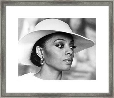 Diana Ross In Mahogany  Framed Print by Silver Screen