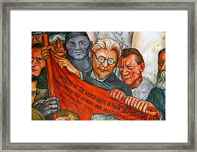 Diego Rivera Mural Mexico City Framed Print