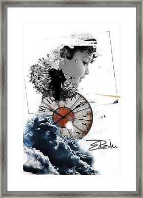 Digital Art - Er Ink  Framed Print by Enache  Radu