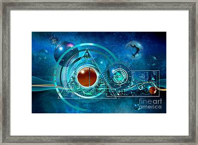 Digital Genesis Framed Print