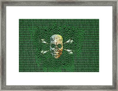 Digital Meltdown Framed Print