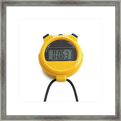 Digital Stopwatch Framed Print by Science Photo Library