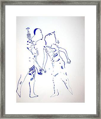 Dinka Courtship - South Sudan Framed Print by Gloria Ssali
