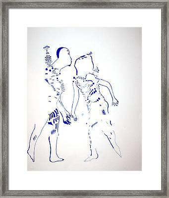 Dinka Courtship - South Sudan Framed Print