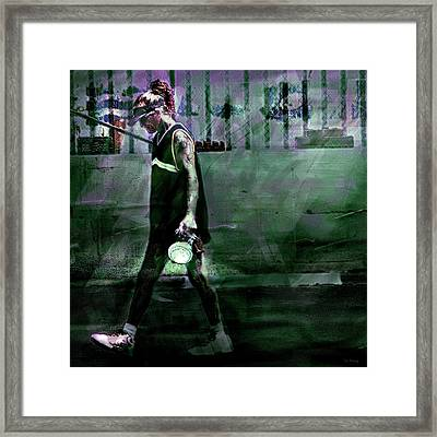 Diogenes' Return Framed Print by Lin Haring