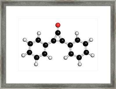 Diphencyprone Alopecia Drug Molecule Framed Print by Molekuul