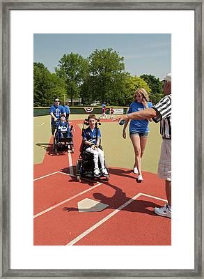 Disabled Baseball Game Framed Print