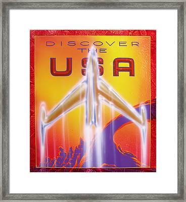 Discover The Usa Framed Print