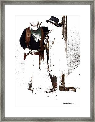 Discussion Framed Print by Robert Jensen