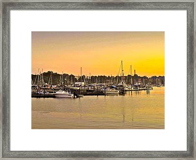 Dock Of The Bay Framed Print by Frozen in Time Fine Art Photography