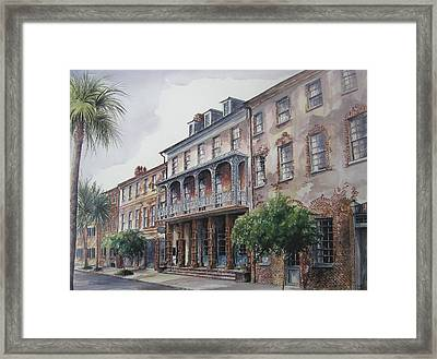 Framed Print featuring the painting Dock Street Theatre by Gloria Turner