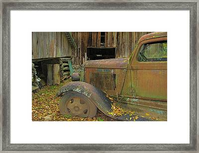 Dodge In The Country Fall Colors Framed Print by Dan Sproul