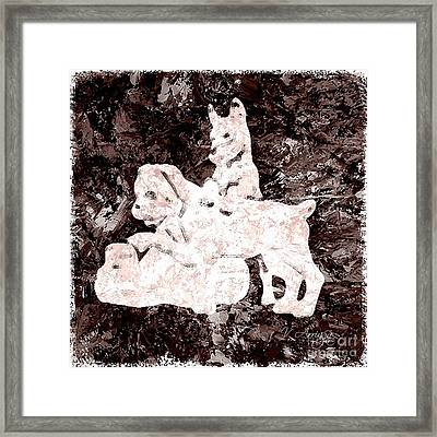 Dogs Framed Print by Victor Arriaga