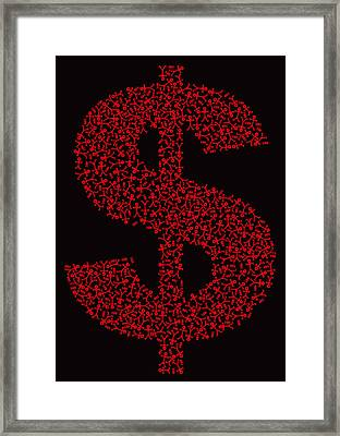 Dollar People Icon Framed Print