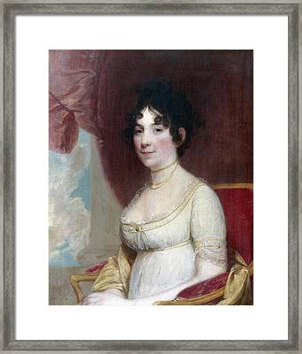 Dolley Payne Todd Madison (1768-1849) Framed Print