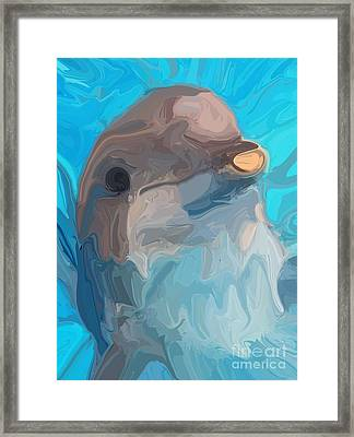 Dolphin Framed Print by Chris Butler