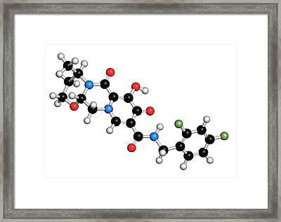 Dolutegravir Hiv Drug Molecule Framed Print by Molekuul