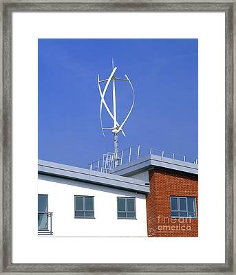 Domestic Micro Wind Turbine Framed Print by Martin Bond