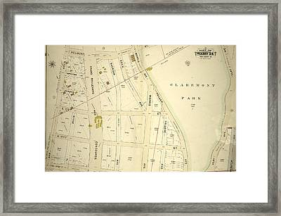 Double Page Plate No. 2, Part Of Ward 24 Framed Print