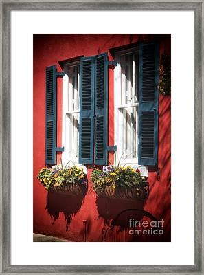 Double Windows Framed Print by John Rizzuto