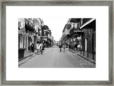 Down Bourbon Street Framed Print by John Rizzuto