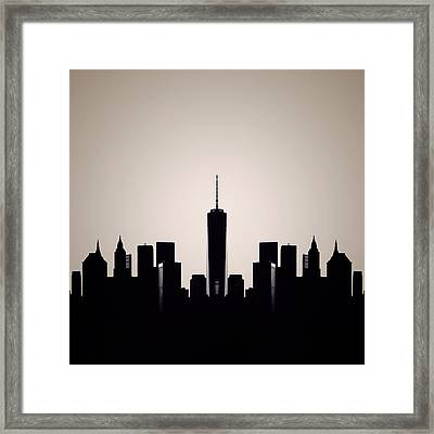 Downtown Deco Framed Print