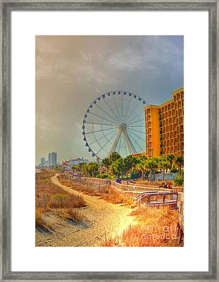 Downtown Myrtle Beach Framed Print