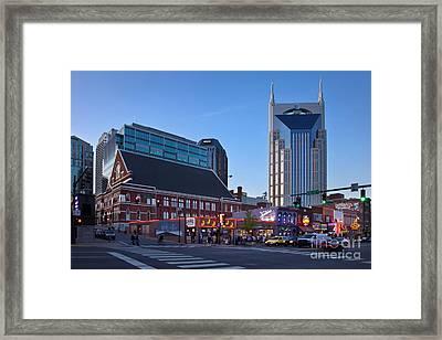 Downtown Nashville Framed Print by Brian Jannsen