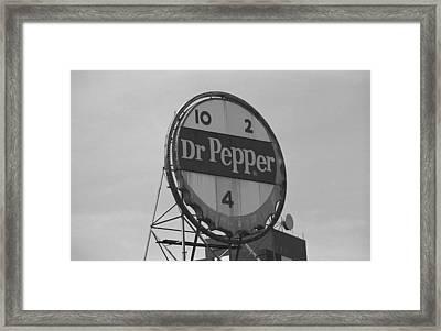 Dr. Pepper Bottle Top Framed Print by Frank Romeo