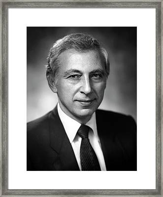Dr. Robert Gallo Framed Print by National Cancer Institute