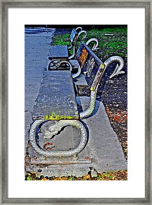 Dragon. Next To Charles Bridge. Prague. Czech Republic. Framed Print by Andy Za