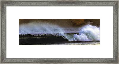 Drakes Beach Break Framed Print