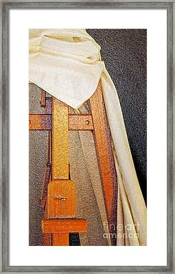 Draped Easel Framed Print