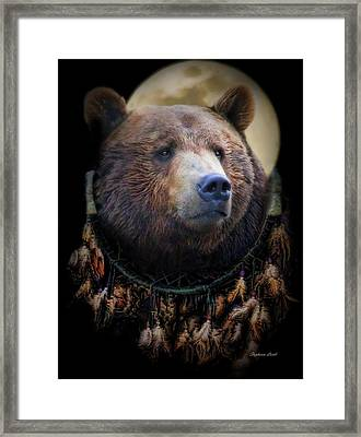 Dream-catcher Framed Print by Stephanie Laird